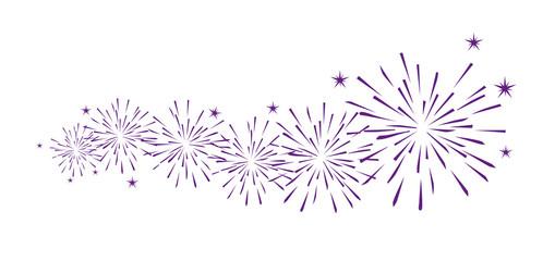 Feuerwerk Dekoration Violett