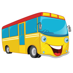Vector Illustration Of Cartoon Bus