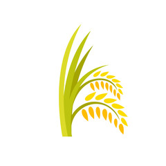 Ears of rice plant icon