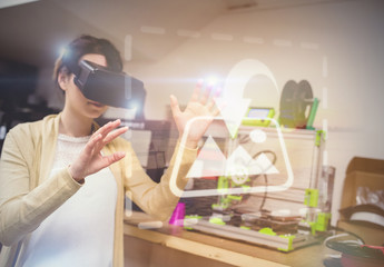 VR User in a Lab Mockup