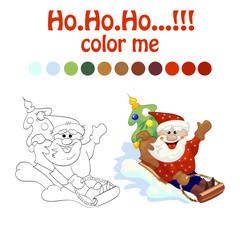 coloring book santa