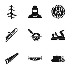 Cleaver icons set. Simple illustration of 9 cleaver vector icons for web