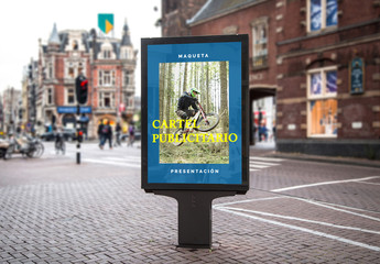 Maqueta de cartel publicitario para la calle