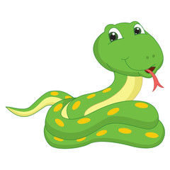 Vector Illustration Of A Cartoon Snake