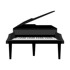 piano instrument musical icon vector illustration design