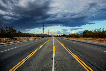 Road With Storm Clouds