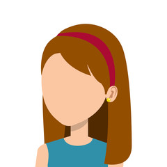 businesswoman character avatar icon vector illustration design