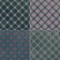 vintage-retro texture background pattern tablecloth in a cage