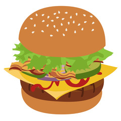 Burger vector isolated illustration.