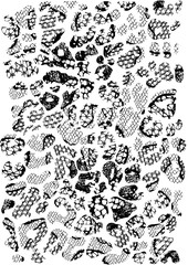 Leopard and lace pattern