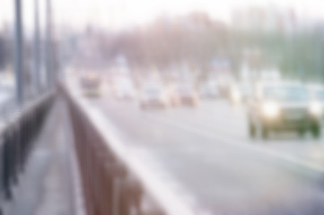 Traffic at the city, abstract  motion blur