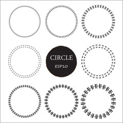 Set of hand drawn circles, vector design elements
