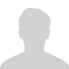 Male Default Avatar Profile Gray Picture Isolated on White Background For Your Design. Vector illustration