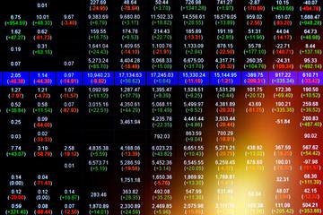 Stock market on display,