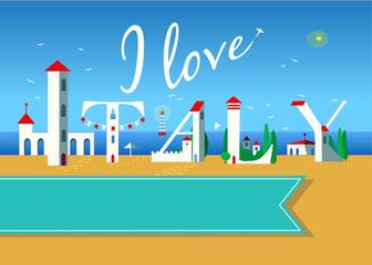 I love Italy. Travel card