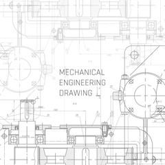 Mechanical Engineering drawing. Engineering Drawing Background. Blueprint vector.