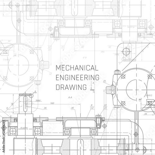 Mechanical engineering drawing engineering drawing background mechanical engineering drawing engineering drawing background blueprint vector malvernweather Images