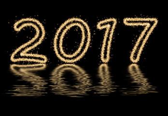 Sparkle fireworks 2017, New year 2017 fireworks text
