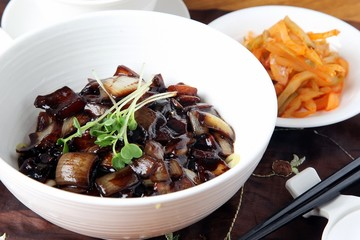 짜장면,jajangmyeon, black-bean-sauce noodles