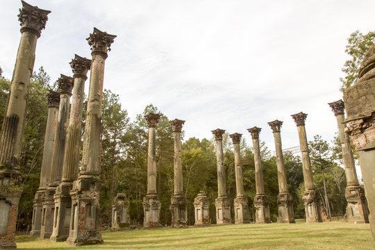 Windsor Ruins in rural Mississippi
