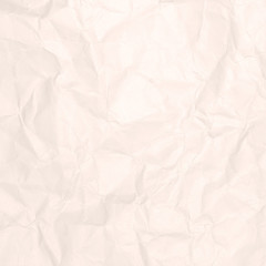 Crumpled light brown paper texture or paper background for design with copy space for text or image.