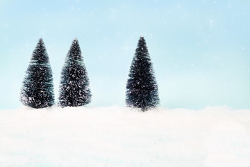 Christmas and winter copy space background.