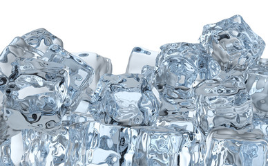 Heap of ice cubes