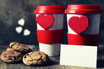 couple cup valentine day