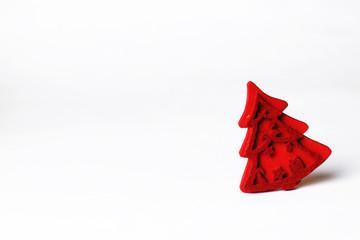 red christmas decor tree wood