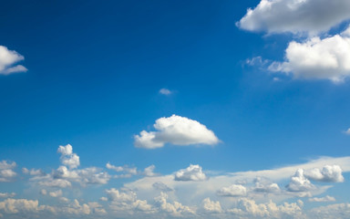 Beautiful blue sky and white clouds background