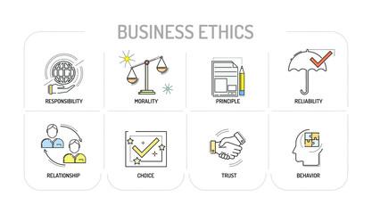 BUSINESS ETHICS Line icon Concept