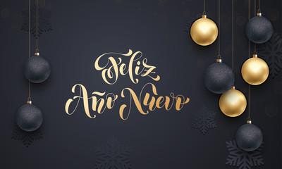 Spanish New Year Feliz Ano Nuevo decoration golden ornament greeting