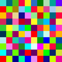 Bright seamless pattern with colorful square mosaic