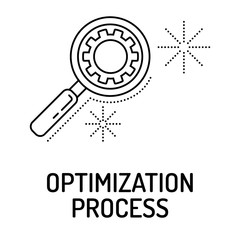 OPTIMIZATION PROCESS Line icon