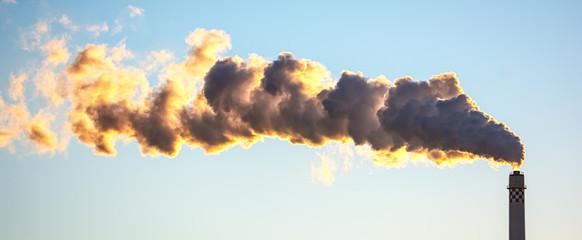 Luftverschmutzung durch Abgase der Industrie