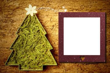 Christmas tree photo frame card