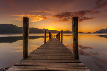 Ashness Jetty sunset Keswick Lake District