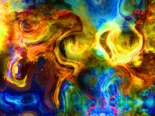 Computer generated colorful abstract background. Digital artwork creative graphic design.