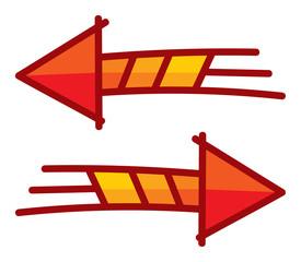 arrow red vector