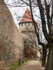 Medieval walls in Sibiu, Ramania