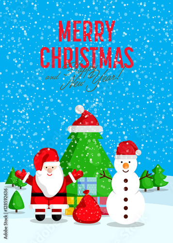 Christmas Celebrating Concept Santa With Sack Of Gifts And