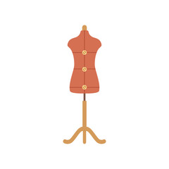Tailor mannequin flat icon.