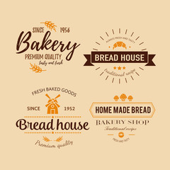 Set of bakery badges