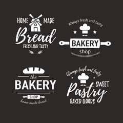 Set of bakery badges