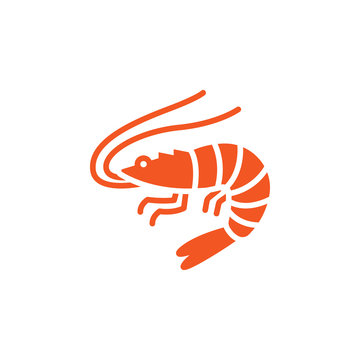 Shrimp, Prawn icon vector, filled flat sign, solid colorful pictogram isolated on white, logo illustration