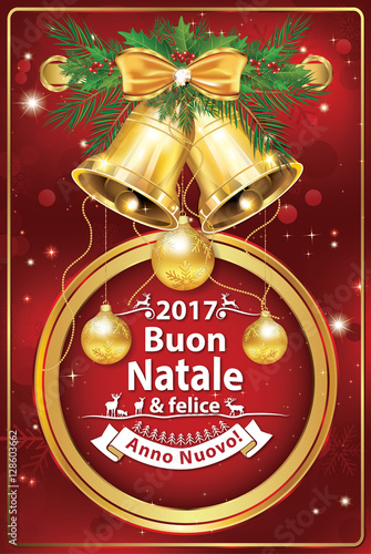 Biglietti Di Auguri Di Buon Natale Felice Anno Nuovo 2017 Colori