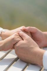 Groom Holding Bride's Hands