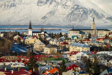 Reykjavik city panorama