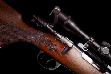 Sniper rifle telescope glass lens with bullet load