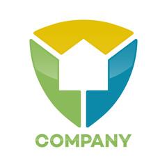 Abstract Properties shield logo